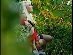 Hot Blonde And A Man Hiding In The Bush Fucking free