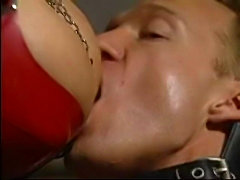 Vampire Redhead Chick getting banged by 2 guys