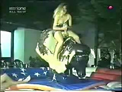 Nipple slip video - girls on bull