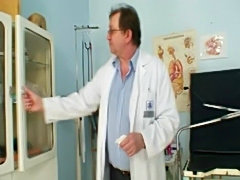 Zaneta has her pussy gyno speculum examined by old doctor  free