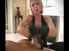 Sexy girl make a handjob with his leather gloves  free