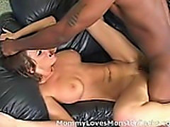 Busty brunette momma gets ass fucked and jizzed