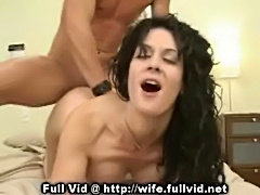 Brunette housewife bang  free