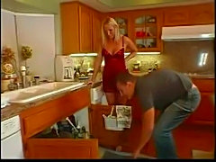 Naughty housewife fucking in kitchen  free