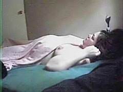 My mom solo. Hidden cam in her bedroom