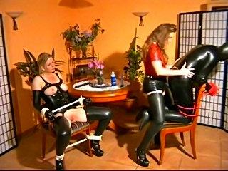 Mistress fucks heer male and female slaves free