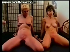Two ladies getting spanked hard on their cunt and asses  free