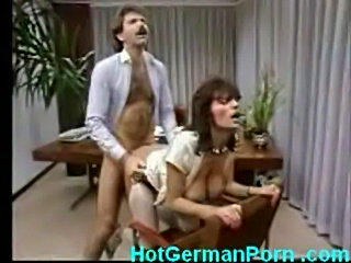 Classic scene of german mature boss fucking employee free