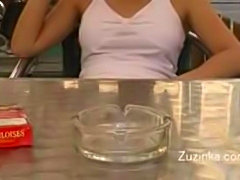 Zuzinka Upskirt Cafe