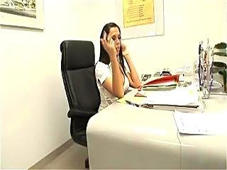 Busty secretary Rachel Starr