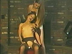 Cybersinema!! tight silk stocking strangling free