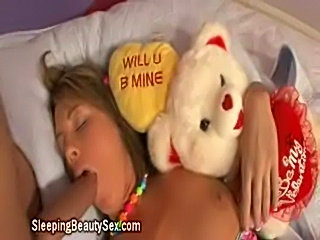 Sleeping blonde blowjob  free