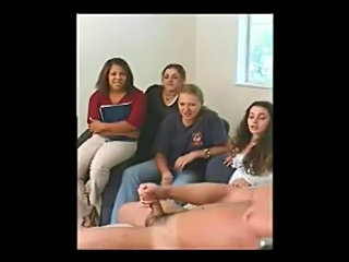 4 girls watching guy jerk off - 1  free