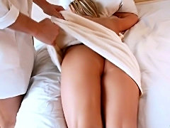 Lexi Angel gets her tight ass massaged then fucked