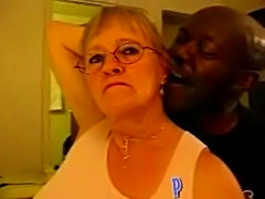 Amateur homemade granny and her big black cock  free