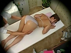 Young fashion model massaged to orgasm by health massager 1  free
