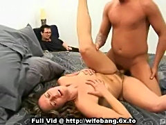 Housewife banged on bed  free