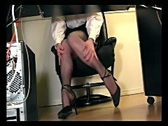 Under desk voyeur cam masturbation  free