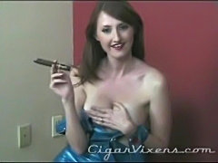 Kendra James SMOKES a Cigar free