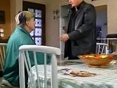 french woman takes 2 older men