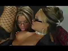 Two naughty schoolgirl get punished  free