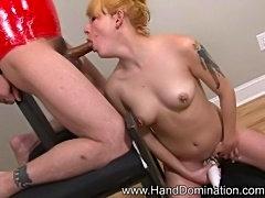 Heather Gable Femdom Handjob