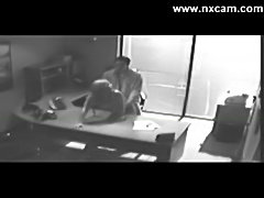 Security camera Films Sex At Office On Desk free