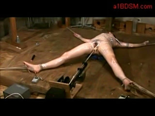 Girl wrapped in foil tied legs and arms pussy fucked with fu free