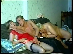 3 old grandmas start with lesbo games & share a younger dick free