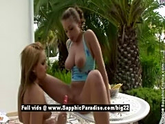 Zara and Salome from sapphic erotica, lesbian girls anal toy free