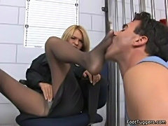 Krissy Lyn - Policewoman Giving Footjobs free