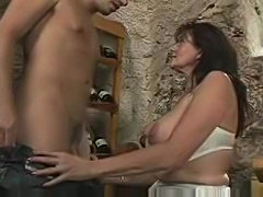 Fucking his busty stepmother in the wine cellar...F70 - xHamster.com