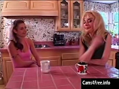 Hot Mature Mom seduces Young Teen Girl!