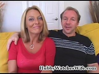 Bree's hubby has always wanted to watch her fuck a younger man. We introduced them to a well hung young stud and let the action begin. The chemistry between them was outstanding and hubby was more than happy to watch his beautiful blonde wife getting fuc