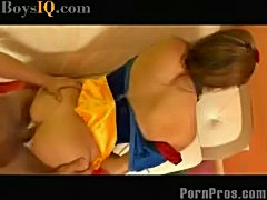Adorable Alyson gets a Halloween fucking  BoysIQ Sex video free