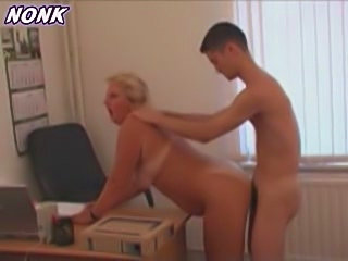 Granny Boss Fucks Young Worker