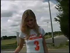 blond teen public upskirt free