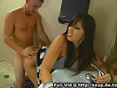 Brunette milf bathroom bang  free