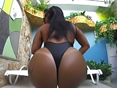 Monica Santhiago teases and gets her big ass pounded