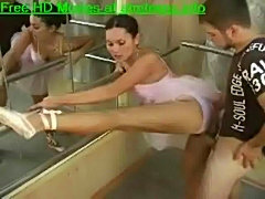Ballerina Fucked at gym
