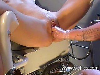 Brutally fist fucked amateur whore has her cunt stretch