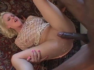 Biggz makes this horny blondes pussy squirt all over his huge black cock!