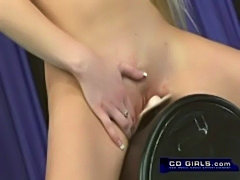 Bella Star rides the sybian fucking machine