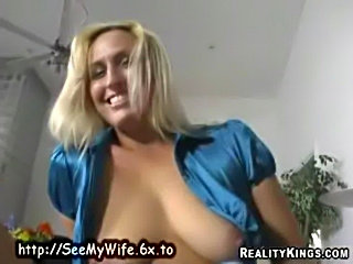 Blonde housewife pussy free