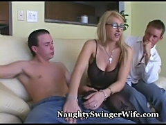 Naughty wife fed two cocks  free
