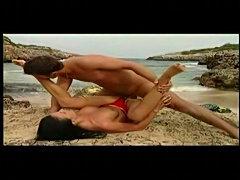 German lifeguard sucking and fucking on the beach! free