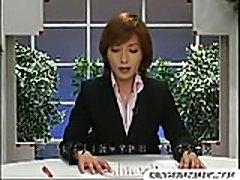 Assian Newsreader Bukkake - Funny