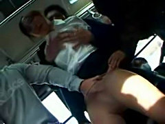 Schoolgirl rape in a Shuttle Bus Part 1