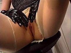 closeup pantyhose ripping free