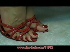 Amatuer foot model candy  free